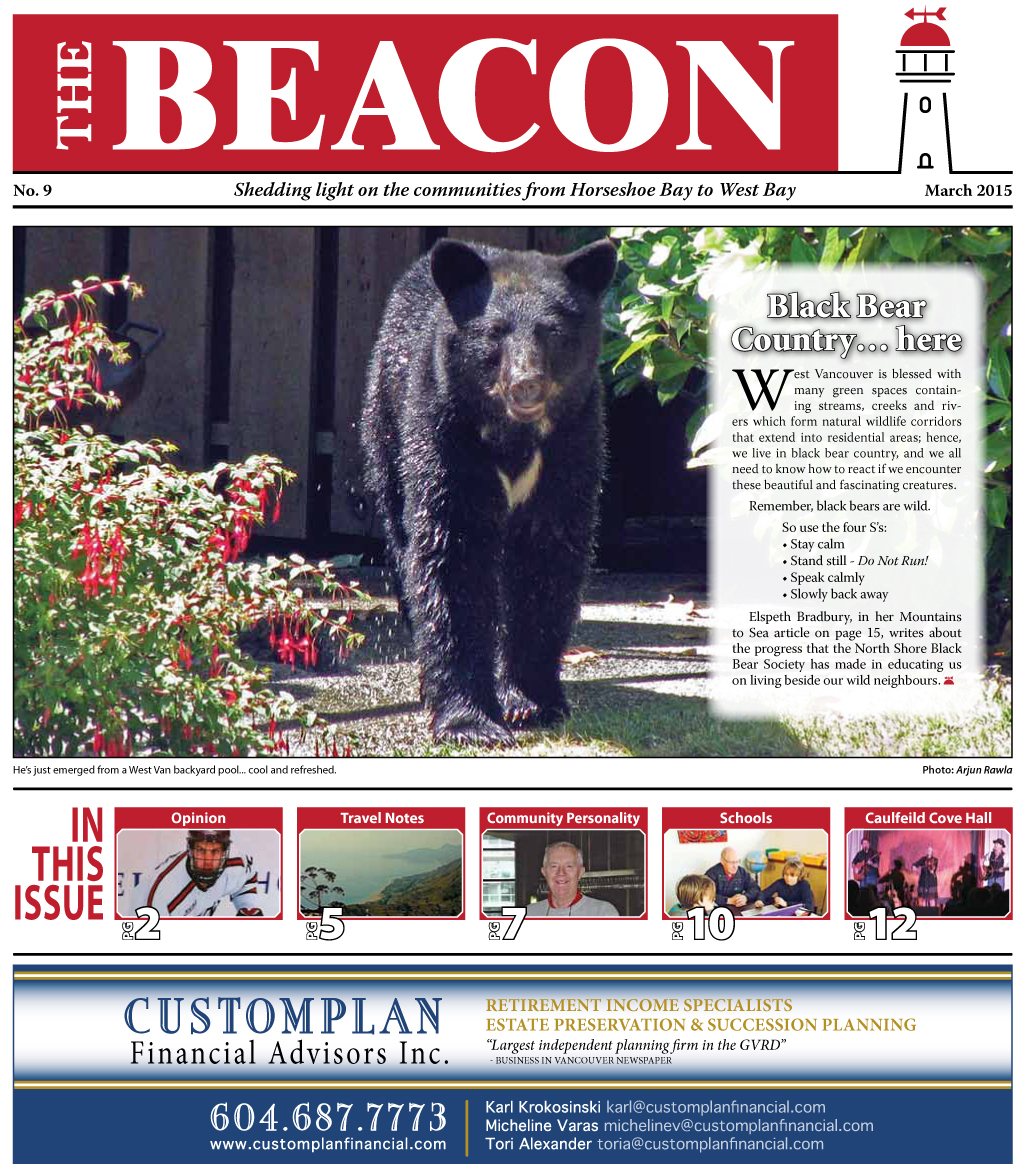 West Vancouver Beacon Newspaper - March 2015 Edition