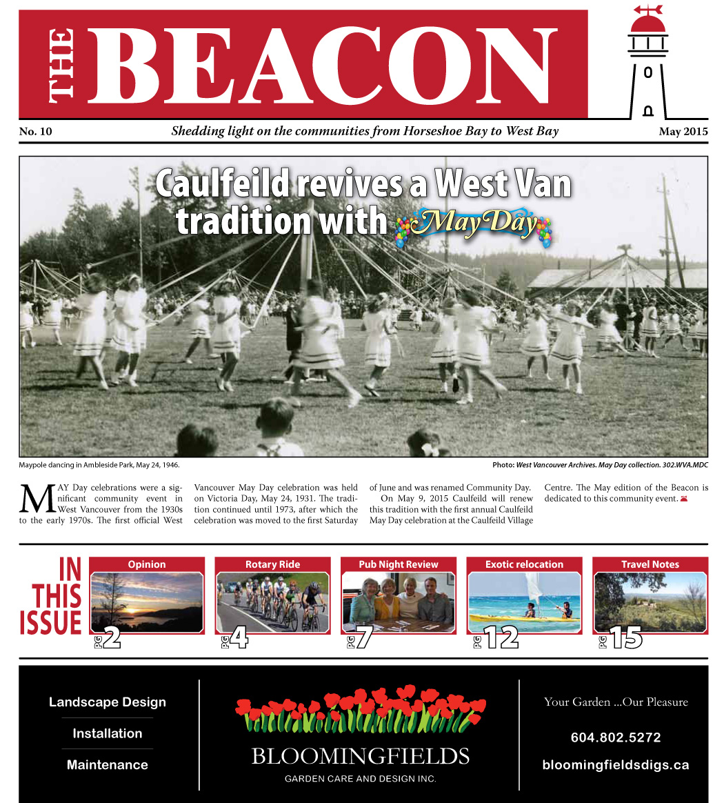 West Vancouver Beacon Newspaper - May 2015 Edition