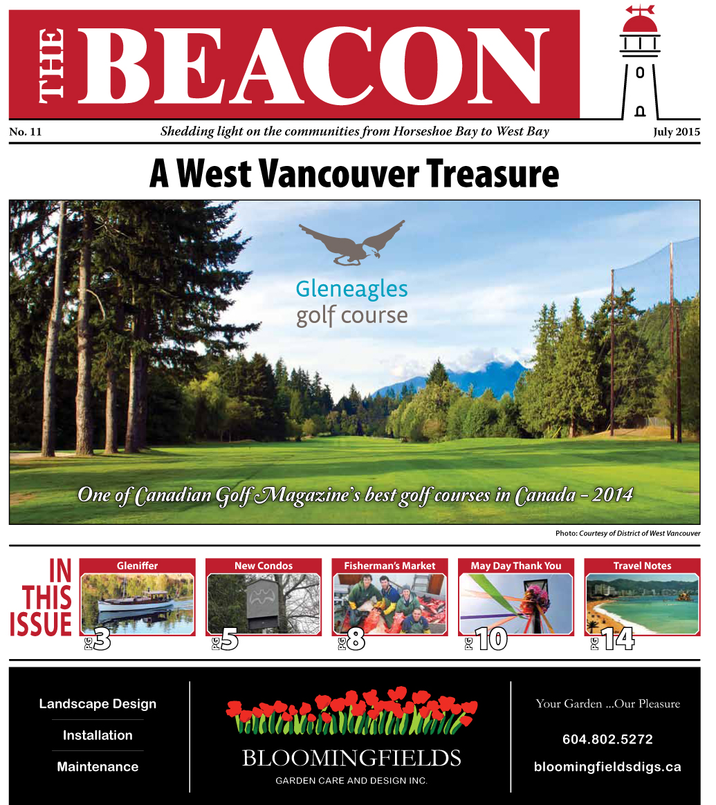 West Vancouver Beacon Newspaper - July 2015 Edition