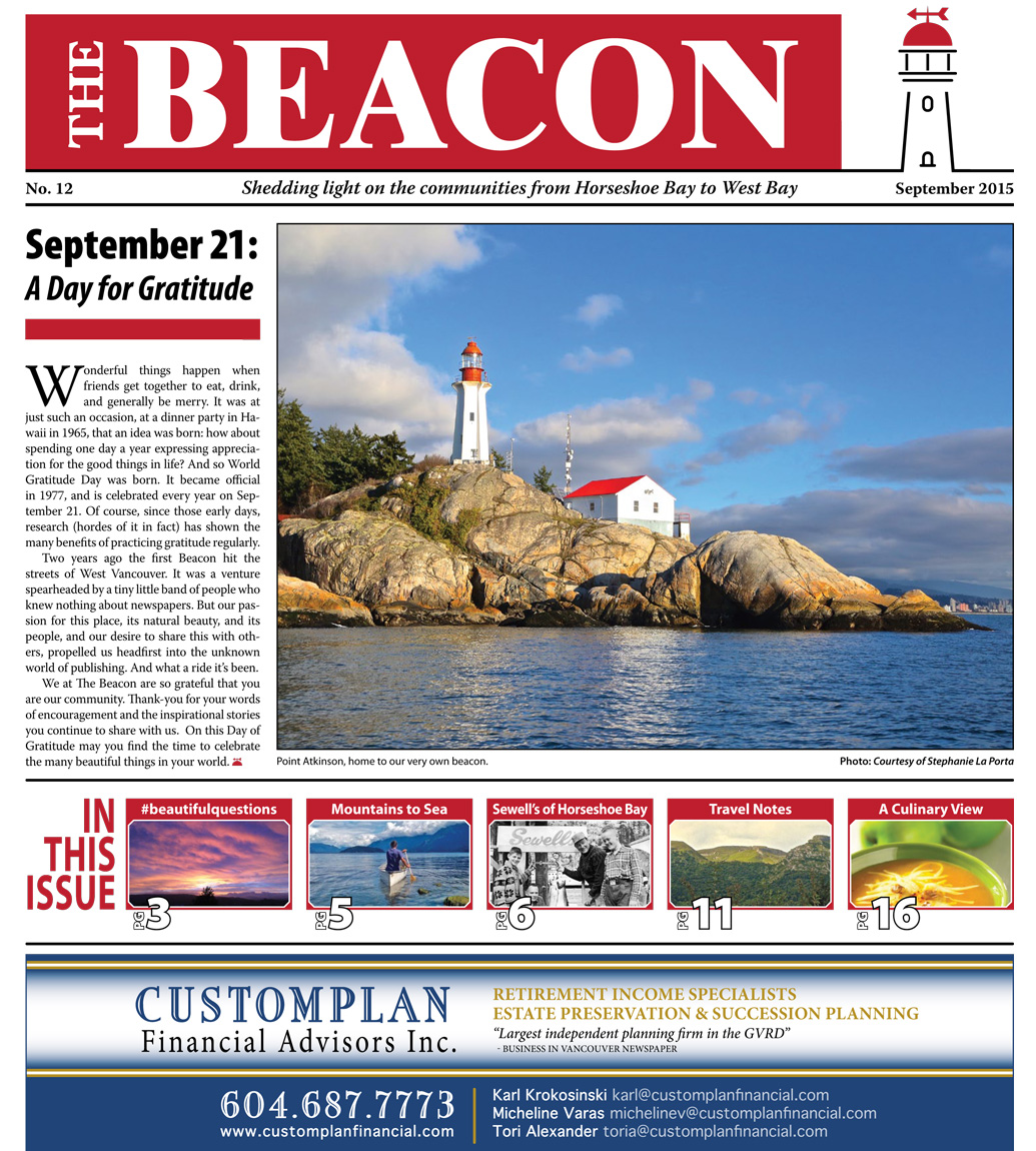 West Vancouver Beacon Newspaper - September 2015 Edition