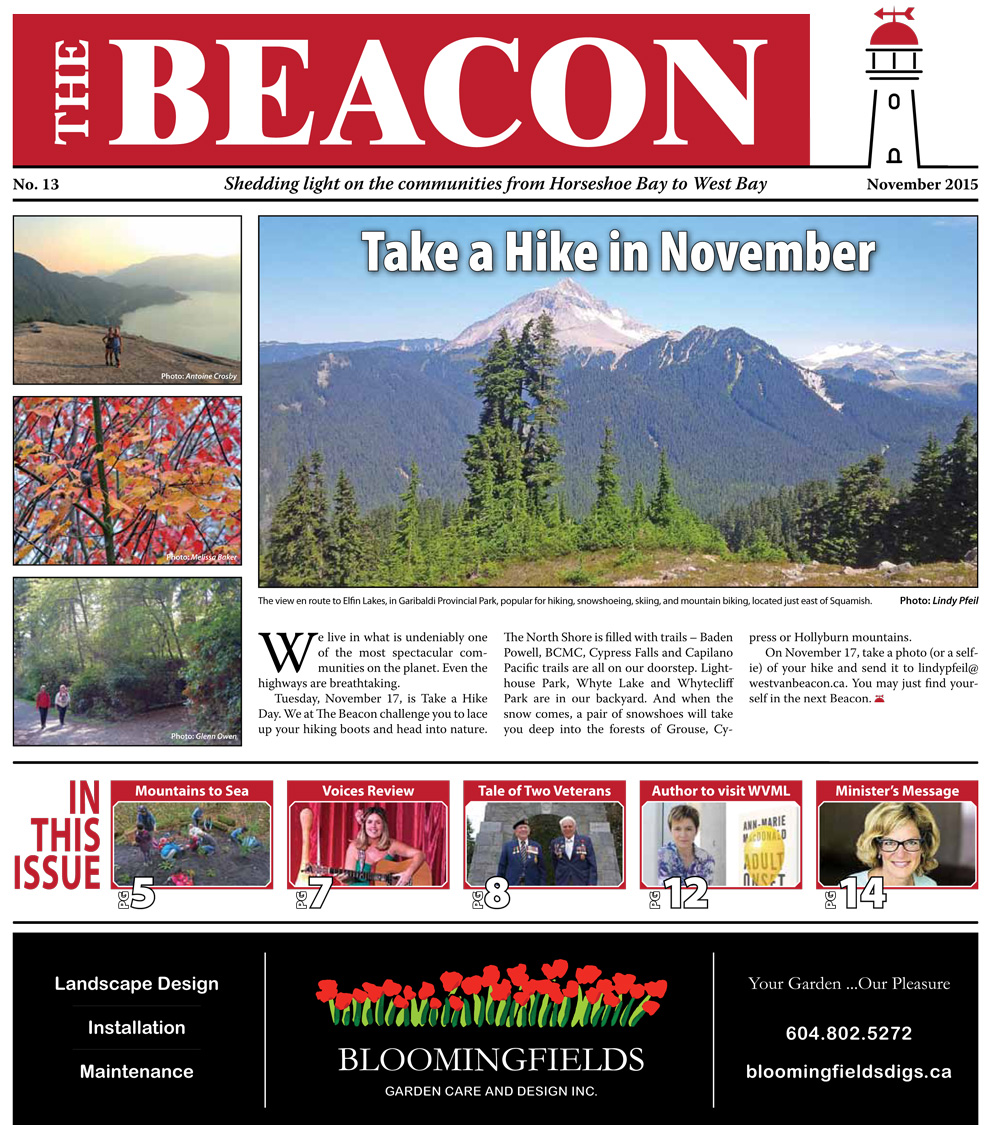 West Vancouver Beacon Newspaper - November 2015 Edition