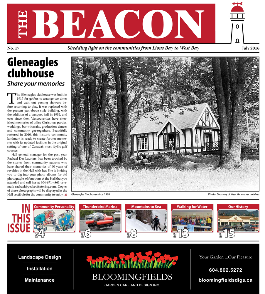West Vancouver Beacon Newspaper - July 2016 Edition