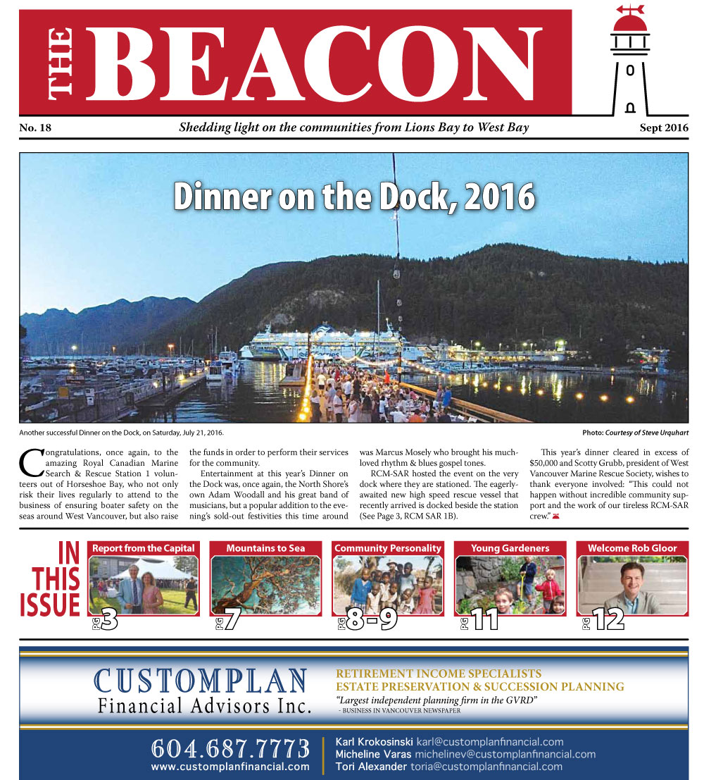 West Vancouver Beacon Newspaper - September 2016 Edition