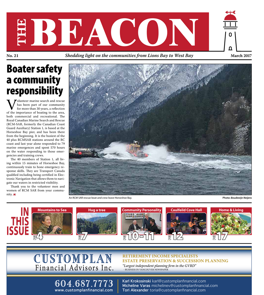 West Vancouver Beacon Newspaper - March 2017 Edition