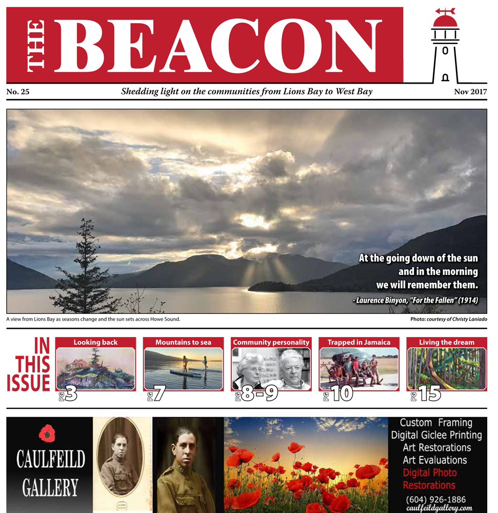 West Vancouver Beacon Newspaper - November 2017 Edition