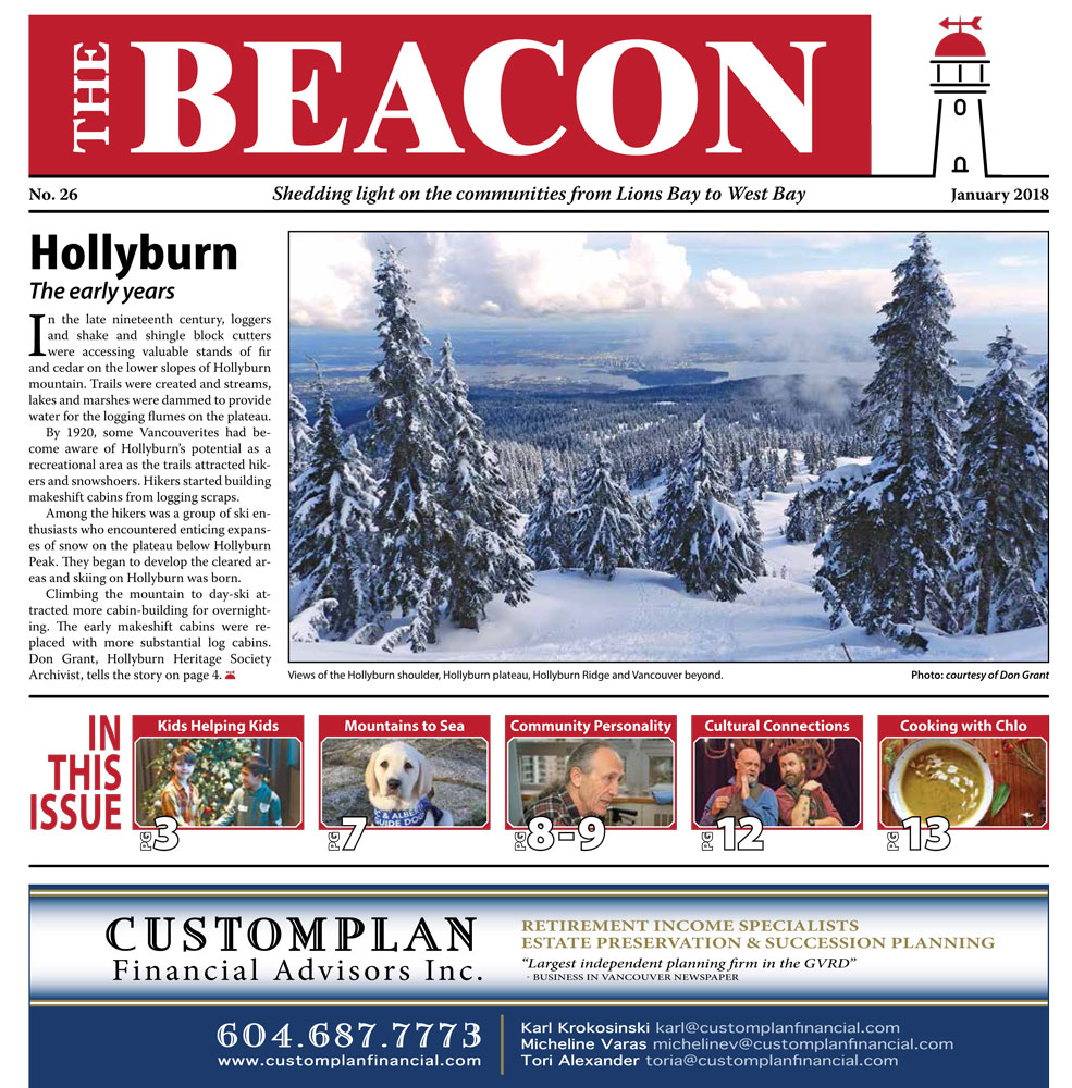 West Vancouver Beacon Newspaper - January 2018 Edition